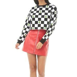 Forever 21 Checkered Grinch print Sweatshirt - 8
